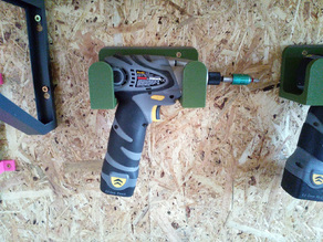 Drill / Impact Driver Wall Mounted Holder 60mm