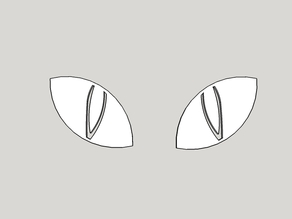 Cat's eyes (for glow in the dark decoration)