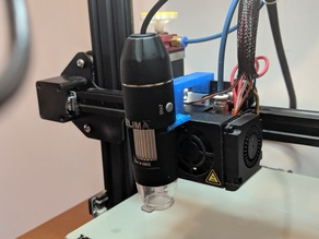 Ender 3 USB Microscope Mount (Customizable)