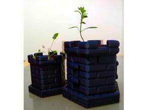 Hexagonal Castle Plant Pot