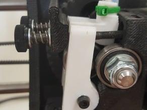 Taz 5 Extruder idler block with added tube holder