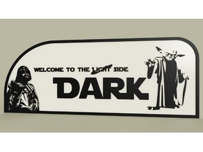 StarWars - Yoda Vader - welcome to the light-dark side