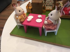 Table and chair for Sylvanian Families set