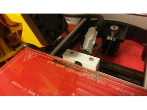 Prusa i3 Hotbed Cable Strain Relief