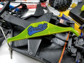 #OpenRC Truggy Baseball Logo Side Shields