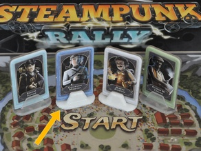 Steampunk Rally board game character stand
