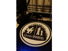 Game of Thrones toilet sign