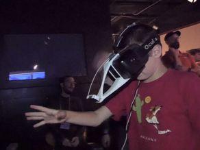 Extended Leap Motion Mount for Oculus Rift DK2