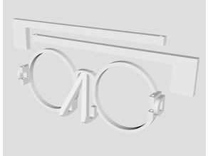 Glasses made out of letters