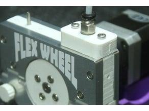 Bowden Coupling Block for Flex Wheel Extruder