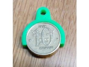 Coin holder for Swedish 10 kr