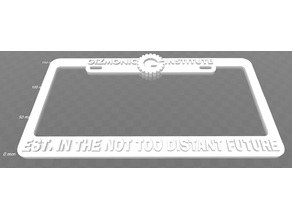 Gizmonic Institute - EST In The Not Too Distant Future License Plate Frame, MST3K
