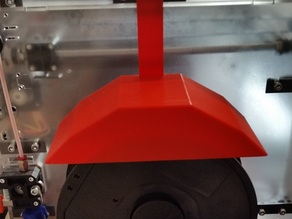 Dust screen for filament spool