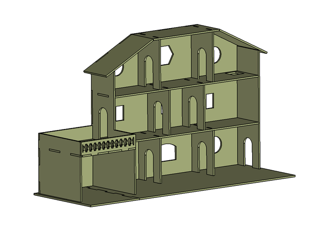 house for playmobil laser cutting by drnyko thingiverse. Black Bedroom Furniture Sets. Home Design Ideas