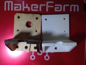 "i3v 10"" Prusa Makerfarm X-Carriage Stock Style"