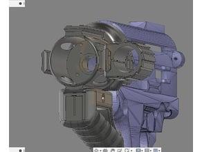 picatinny light mount 25mm (nebo light)