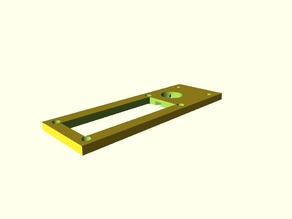 1602 Display mount for 2020 extrusions