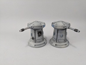Sci-fi Anti-Speeder Turret Damaged