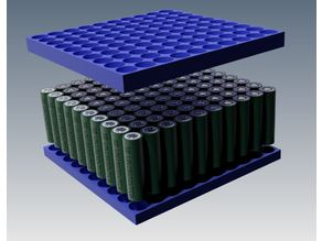 100x 18650 storage plateau (stackable)