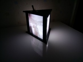 Lithophane Triangle  LED light