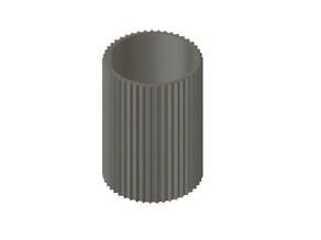 Ribbed Vase or Pot