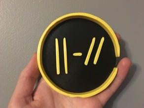 "Twenty One Pilots Coaster: New ""Trench"" Logo"