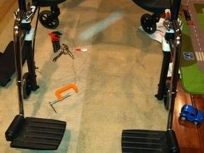 Wheelchair footrest adapter for walker