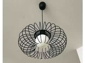 Wire Frame Hanging Lamp
