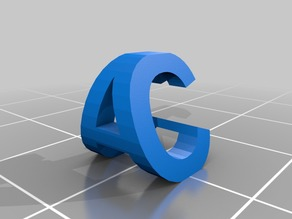 My Customized tof's  3d letter block