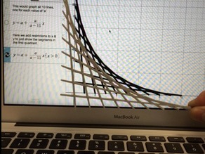 Falling Ladder via Desmos