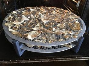 ikea pizza net mushroom drying rig