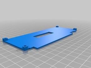 Prusa i3 Rework Smart LCD Frame mount (with 6.5 mm frame)