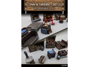 Inn & Tavern Items - Set 1 - 28mm gaming - Sample Items