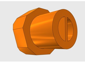 QUICK PRINT!! Pentagonal 3d printer knob V1