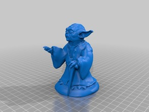 Yoda Using The Force hollowed for DLP/SLA