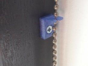 Roll curtain ball chain bracket