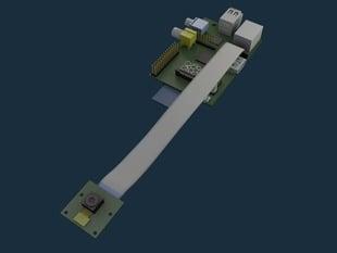 Blender Model - Raspberry Pi with Camera Module