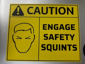 Engage safety squints (stl and pdf for laser engraving or vinyl cutting)