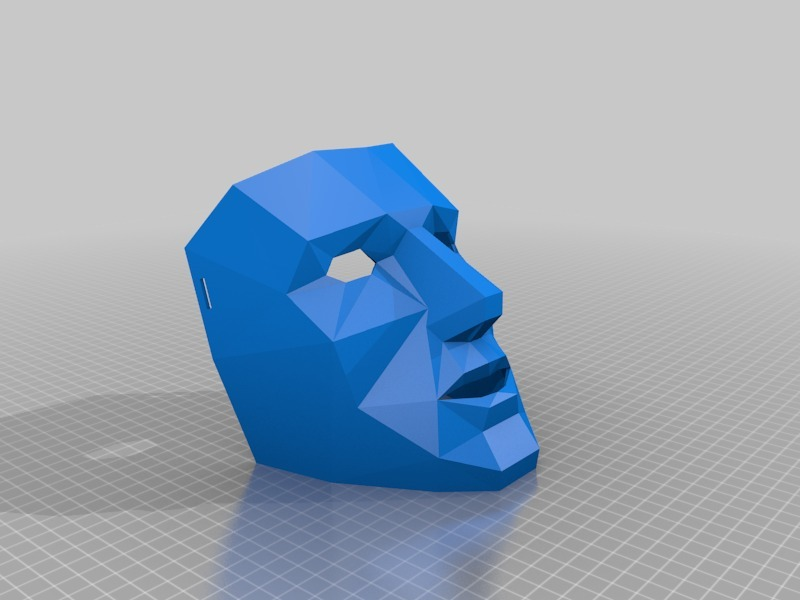 Low Polygon Mask easy breathing by cporto - Thingiverse