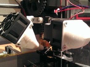 Prusa i3 Rework print fan mount