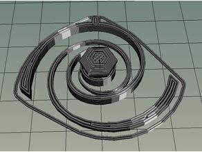 Diamond Spiral Hanger