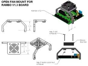 Open Fan Mount for Rambo V1.3 Board