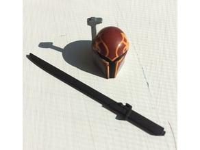 Darksaber Mandalorian lightsaber for 3.75 inch action figures