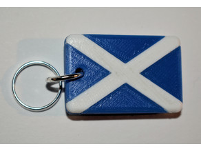 Scottish Flag (St Andrew) Keyfob