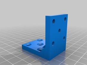 90 degree 10-hole angle bracket