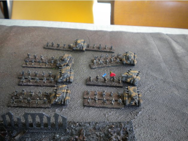 Epic 40K Imperial Guard Infantry by Cerkaire