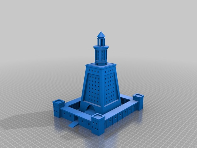 Lighthouse Of Alexandria Model By Padme