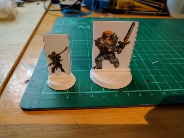 Bases for Cardboard Miniatures (25mm 40mm 50mm 75mm 100mm) by bbilko