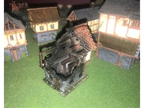 Burnt Out Fantasy Wargames House / Building 15mm