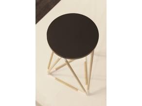 Diamond Circle Side Table